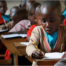 Student focusing intently.